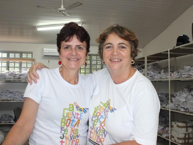 Emília Nunes e Irene Nogueira foram ajudaram a criar a Caminhada da Fraternidade (Foto: Gilcilene Araújo/G1)