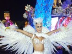 Thaila Ayala escolhe fantasia de coruja para desfile da Gaviões da Fiel