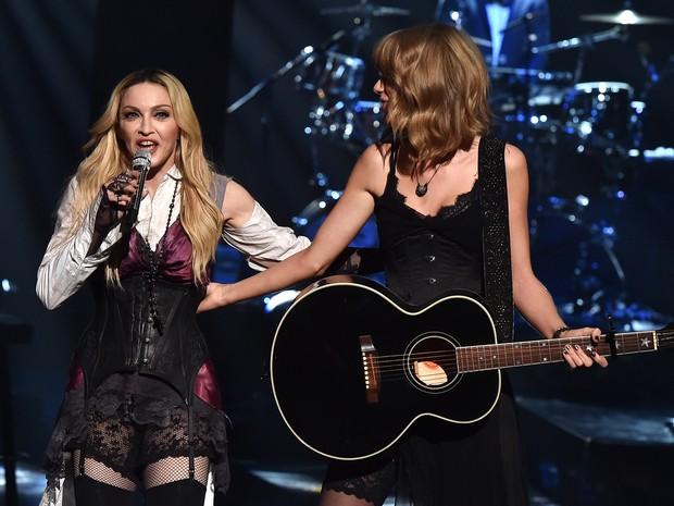iHeart Radio Music Awards - Madonna e Taylor Swift (Foto: AFP)