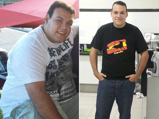 Luiz Guilherme Calheiros Prieto emagreceu 44 quilos em 7 meses com mudança de hábitos (Foto: Arquivo pessoal/Luiz Guilherme Prieto)