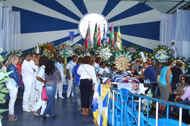 Velório de Marcos Falcon, presidente da Portela, em Madureira, Zona Norte do Rio (Foto: Anderson Borde / AgNews)