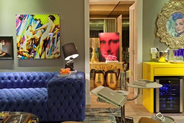 Apartamento Homem Solteiro Decoracao ~ Apartamento de solteiro colorido (Foto Leandro Farchi Divulga??o)
