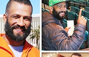 """""""Gari do MMA"""" põe uniforme, passeia em Vegas e conhece Anderson Silva"""
