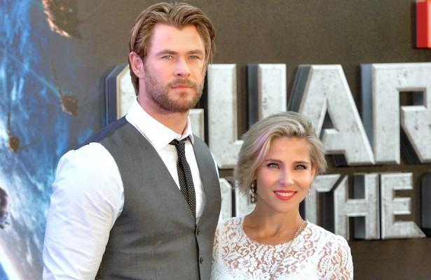 Além de formarem um belo casal, os atores Chris Hemsworth e Elsa Pataky, que subiram ao altar em 2010, são frequentemente vistos fazendo demonstrações públicas de afeto. (Foto: Getty Images)