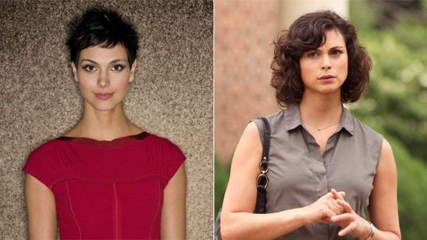 Morena Baccarin em 'V: Visitantes' e em 'Homeland - Segurança Nacional' (Foto: Reprodução/Divulgação)