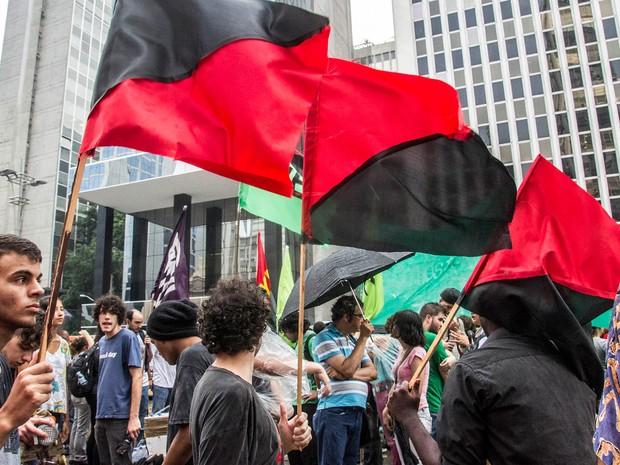 Concentração ato do MPL (Foto: Cris Faga/Fox Press Photo/Estadão Conteúdo)