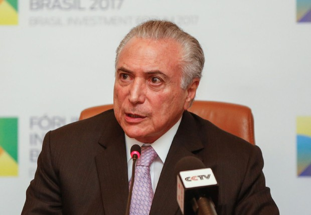 O presidente Michel Temer no Fórum de Investimentos Brasil 2017 (Foto: Marcos Correa/PR)