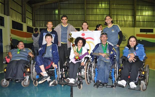 Equipe de bocha paralímpica de MS que vai disputar torneio nacional em PE (Foto: Divulgação/ADD)
