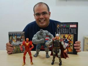 Sandro Sabino vai assistir a estreia do segundo filme dos Vingadores (Foto: Fabiana Figueiredo/G1)