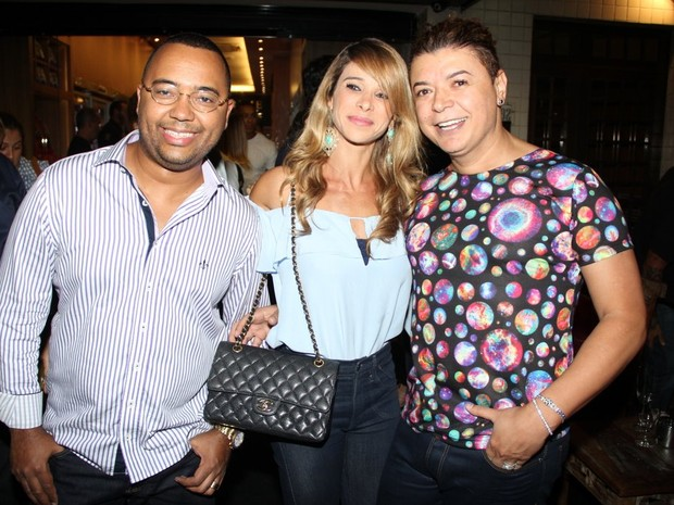 Dudu Nobre, Dany Bananinha e David Brazil em evento no Rio (Foto: Rodrigo dos Anjos/ Ag. News)