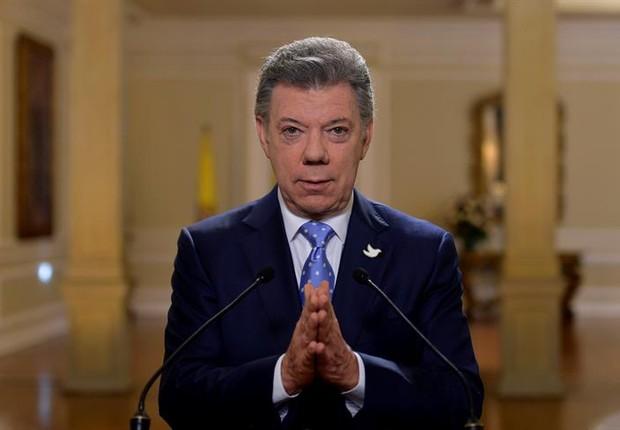 Juan Manuel Santos, presidente da Colômbia (Foto: EFE/NELSON CARDENAS/PRESIDENCIA COLOMBIA/SOLO USO EDITORIAL/NO VENTAS)