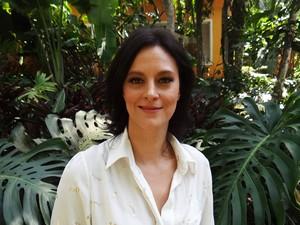 Cláudia Missura nos Bastidores do Mais Você 1 (Foto: Mais Você / TV Globo)