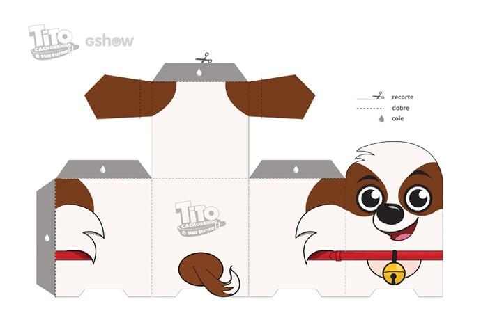 Paper toy do Tito (Foto: Gshow)