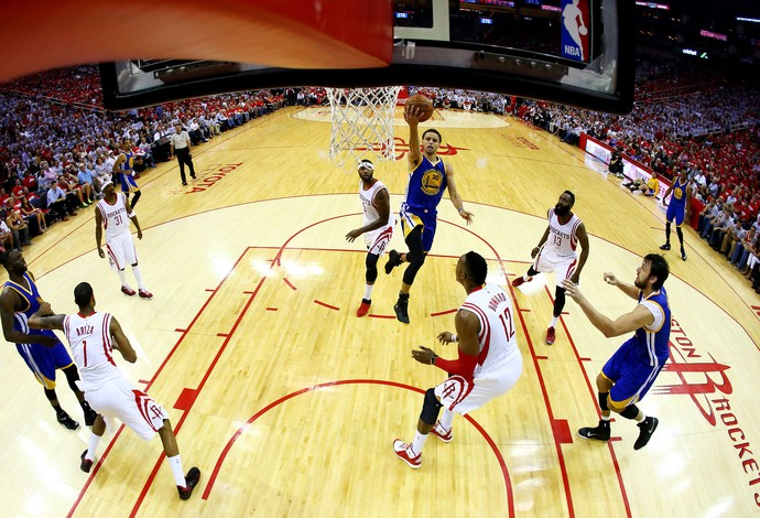 Stephen Curry - Houston x Golden State (Foto: AFP)