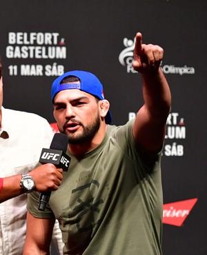 Kelvin Gastelum Cerimônia Pesagem UFC Fortaleza (Foto: Jason Silva)