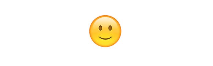 Emoji sorrindo discretamente significa estar feliz, mas nem tanto (Foto: Reprodução/emojipedia)