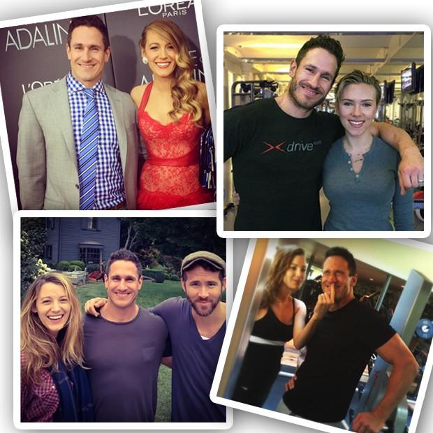 Don Saladino com Blake Lively, Ryan Reynolds e Scarlett  Johansson (Foto: Instagram/Reprodução)