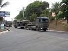 Tanques das Forças Armadas começam a chegar ao ES