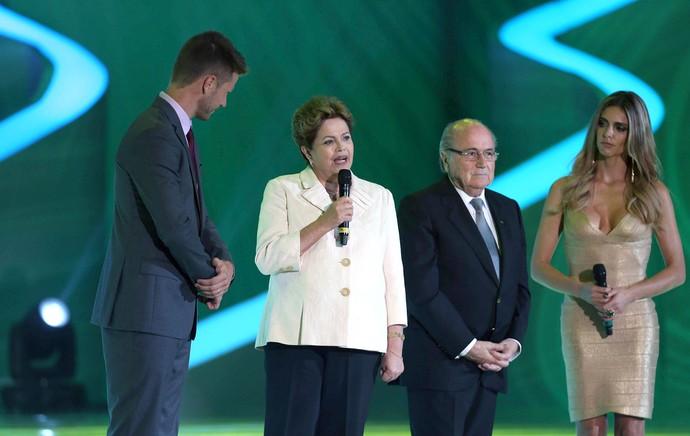 Dilma e Blatter - Sorteio da copa do mundo (Foto: EFE)