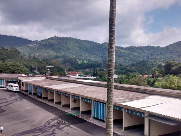 Motel assaltado em Mogi das Cruzes (Foto: Maiara Barbosa/ G1)