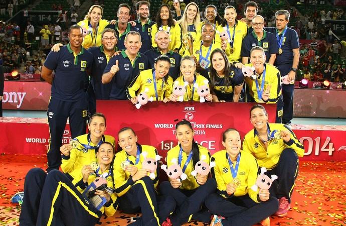 Seleção brasileira campeã Grand Prix vôlei Japão (Foto  Divulgação FIBV) 3baffaa7118d5