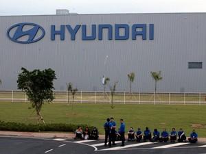 Funcionários da Hyundai entram em greve em fábrica de Piracicaba (Foto: Mateus Medeiros/Sindicato dos Metalúrgicos)