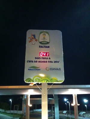 Relógio Manaus 41 dias (Foto: Raphael Pimentel)