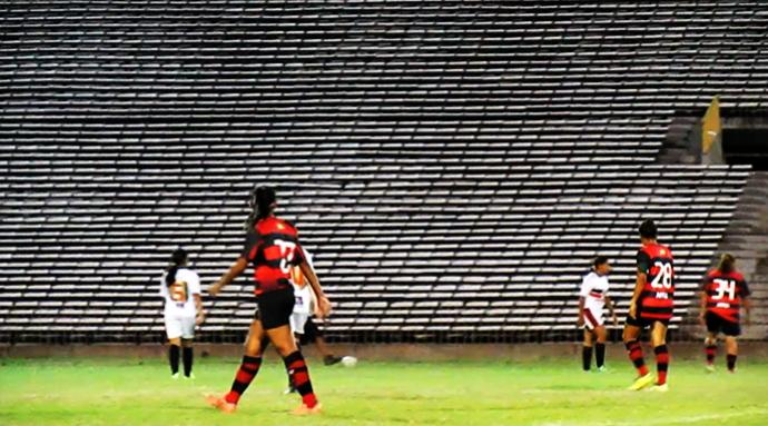 Flamengo-PI na Copa Piauí de Futebol Feminino (Foto: Josiel Martins )