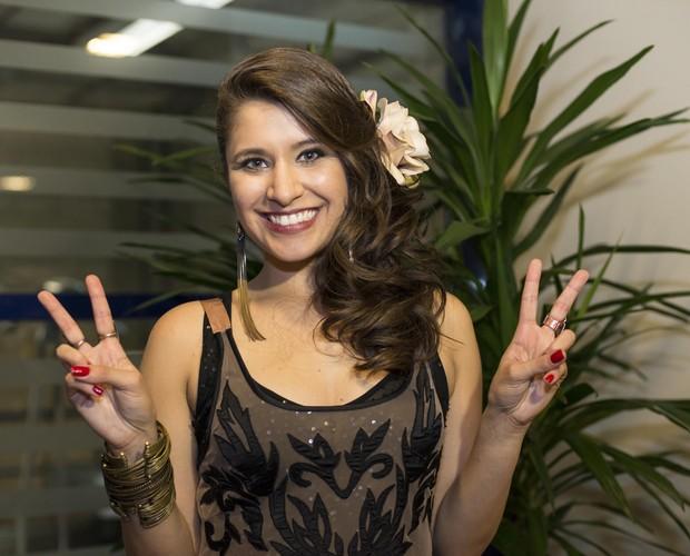 Carla Casarim comemora (Foto: Camila Serejo/Gshow)