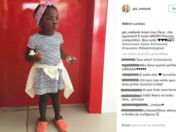Titi, filha do ator Bruno gagliasso e da atriz Giovanna Ewbank (Foto: Reprodução / Instagram)