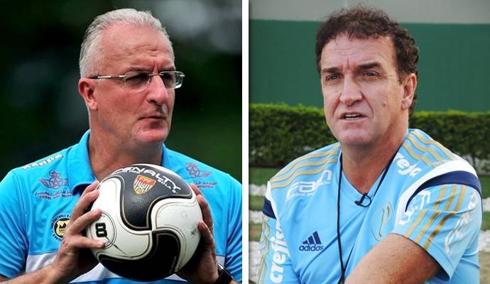 Dorival Júnior e Cuca  (Foto: Infoesporte)