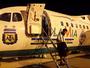 Argentina utilizou o mesmo avião da Chape para vir ao Brasil: veja as fotos