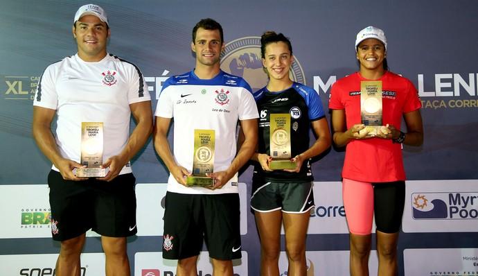 Pinheiros, natação campeão Maria Lenk (Foto: Satiro Sodré/ SSPress)