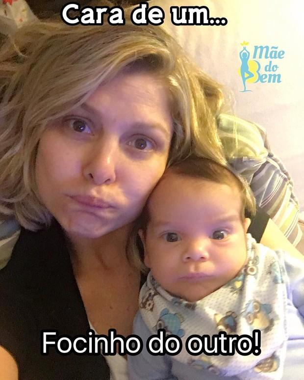 Barbara Borges posa com o filho Theo (Foto: Reprodução/Instagram)