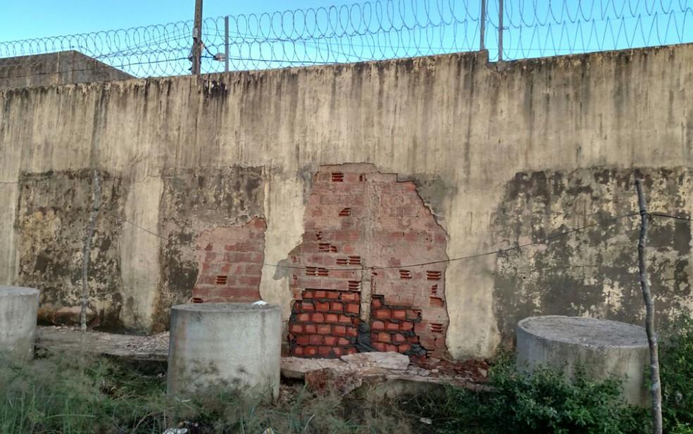 Muro do Complexo Penitenciário de Pedrinhas foi reconstruído após fuga de presos em São Luís (MA) (Foto: Douglas Pinto/TV Mirante)