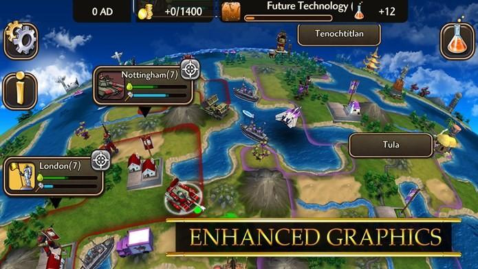 Novo Civilization para iPhone e iPad permite controlar líderes importantes da história (Foto: Divulgação)