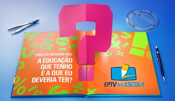Logo eptv na escola 2015 (Foto: Arte / EPTV)