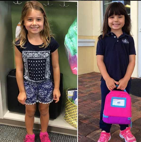 Nina e Maitê: de volta à escola (Foto: Reprodução/Instagram)