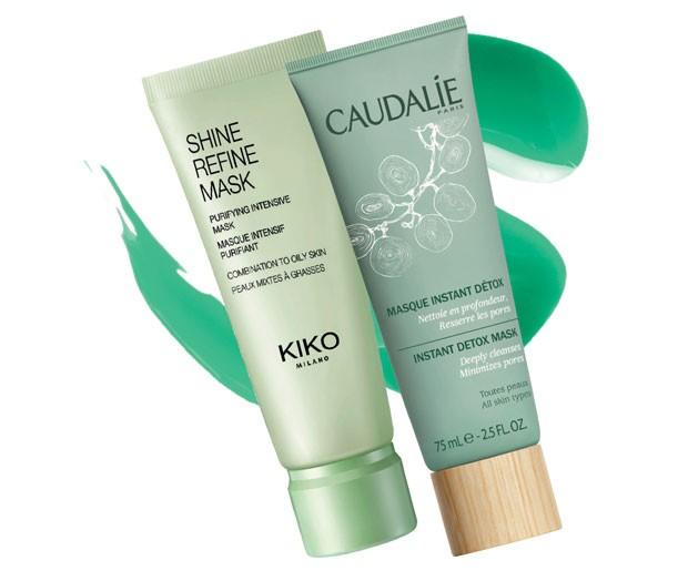 Shine Refine Mask, Kiko Milano, R$ 70. Masque Instant Detox, Caudalíe, R$ 169 (Foto: Divulgação)