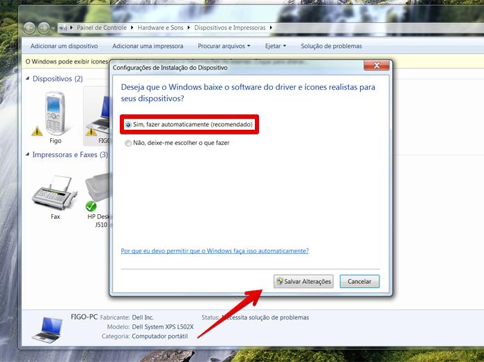Salve as alterações e o Windows 7 sempre buscará novos drivers (Foto: Reprodução/Filipe Garrett)