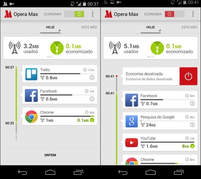 Desativando compactação de dados do Opera Max (Foto: Reprodução/Helito Bijora)