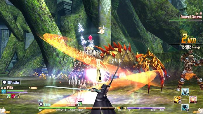 Combate de SAO é um dos pontos fortes da aventura (Foto: Reprodução/Otakustudy)