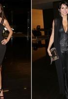 Luciana Gimenez e Alinne Rosa usam looks decotados em festa