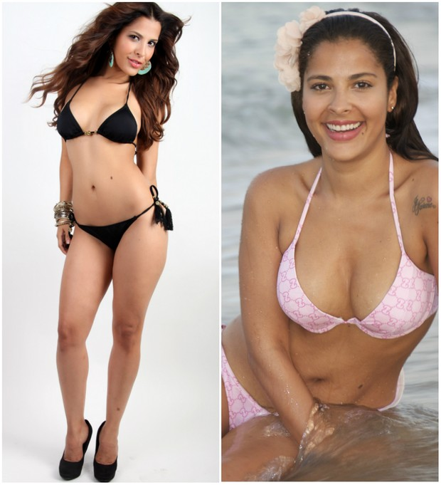 Gyselle Soares antes e depois de perder 5 quilos (Foto: Jana Hernette/Carlos Felipe/Divulgação)