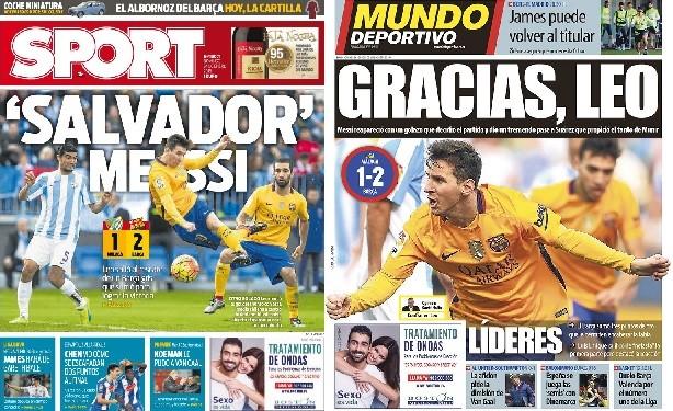 Jornais de Barcelona exaltam Messi