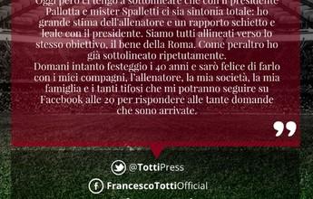 """Esposa de Totti faz críticas a técnico do Roma: """"Foi um homem pequeno"""""""