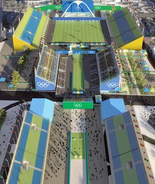 Nos Jogos Rio 2016, o Sambódromo recebe competições de arco e flexa e a largada e a chegada da maratona (Foto: Rio 2016/ BCMF Arquitetos)