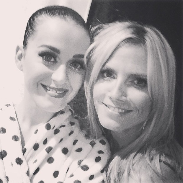 Katy Perry e Heidi Klum após show da cantora em Nova York, nos Estados Unidos (Foto: Instagram/ Reprodução)