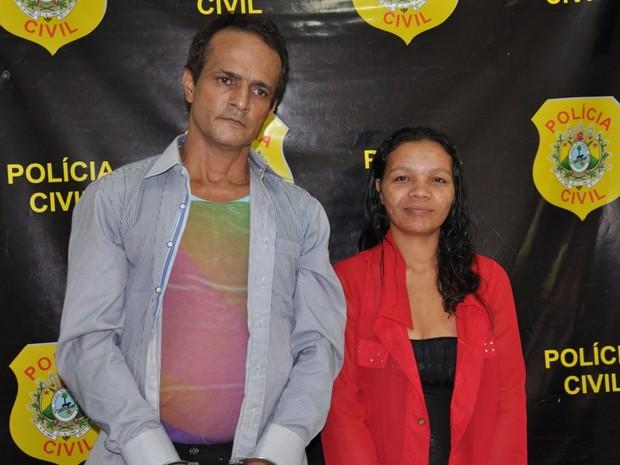Casal foi preso pela polícia de Marechal Thaumaturgo (Foto: Vanísia Nery/G1)