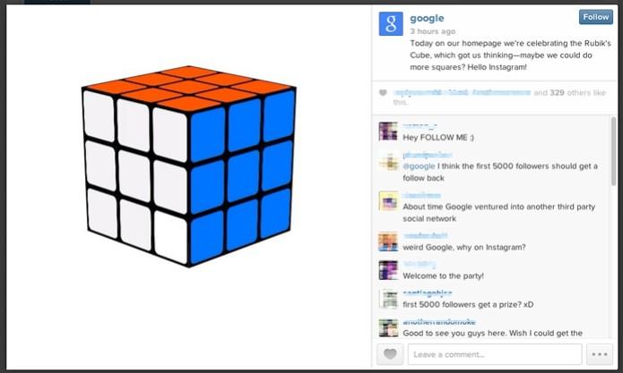 Vídeo de Doodle inaugura conta do Google na rede social (Foto: Reprodução/Melissa Cossetti)